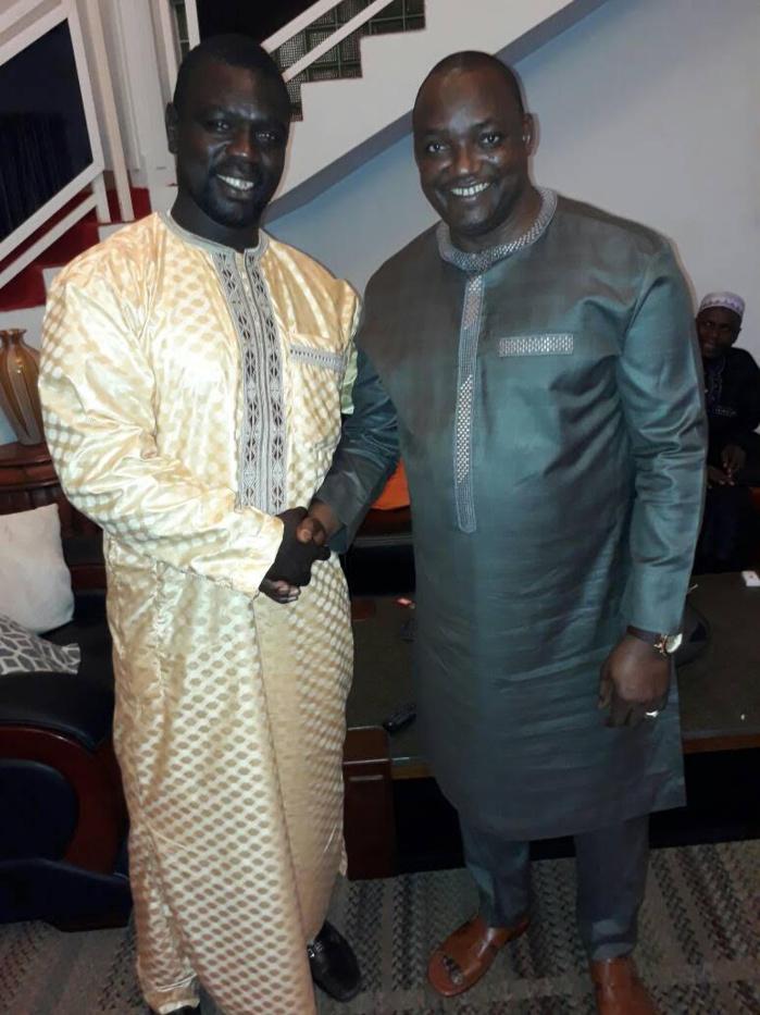 L'ex-champion de lutte Balla Bèye 2 reçu par le Président Adama Barrow