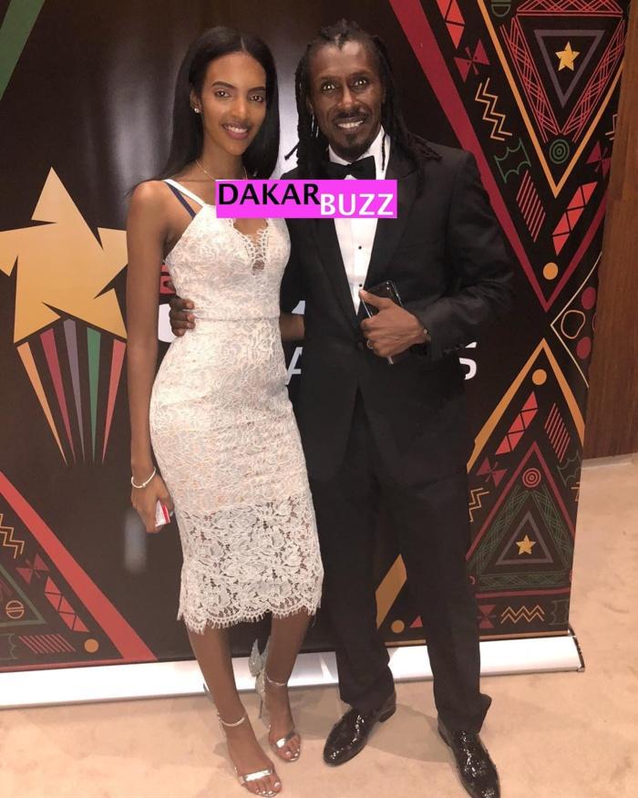 Photos : Aliou Cissé avec ses enfants aux CAF Awards 2018 à Dakar