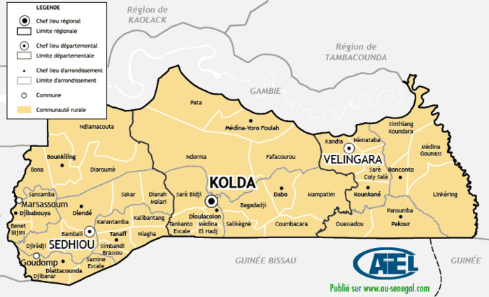 Contribution de la région de KOLDA pour les assises de la société civile les 14, 15 et février 2019 à Dakar
