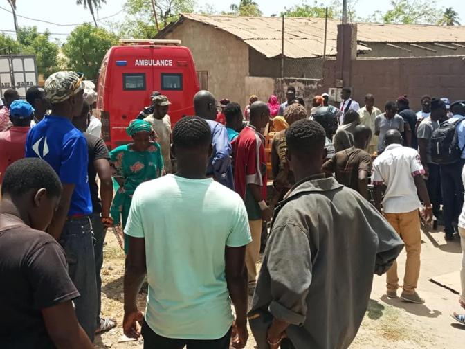 Accident à Santhiaba de Ziguinchor: Un pan de remorque tue un mécanicien vendeur de pièces détachées
