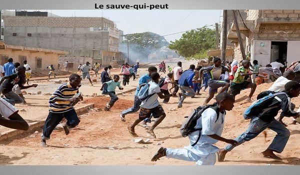 Photos chocs de la barbarie policière sur les élèves du Lycée Limamoulaye de Guédiaway