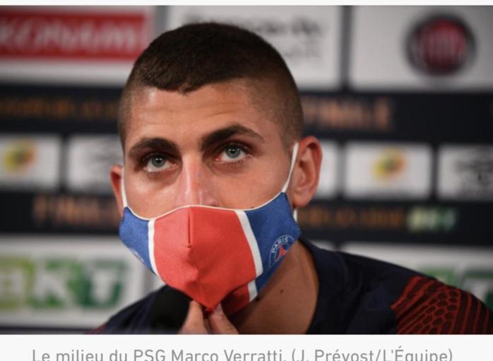 Marco Verratti blessé à un mollet: sa participation au quart de finale de Ligue des champions contre l'Atalanta compromis