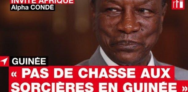 Alpha Condé sur les nombreuses arrestations : « Il n'y a pas de chasse aux sorcières en Guinée »