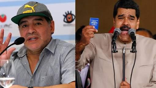 """Maradona se propose comme """"soldat"""" à Maduro"""