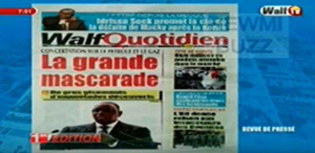 Revue de Presse WalfTv du Mercredi 13 Juin 2018