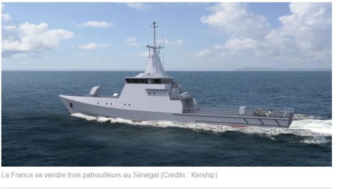 Protection des gisements de gaz : Les trois patrouilleurs OPV 58 devraient coûter 132 milliards FCFA au Sénégal.