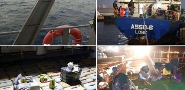 """Drogue intercepté au large de Dakar : 8.370 kg de haschich saisis dans le navire """"Asso-6"""""""