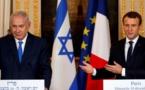"""Macron appelle Netanyahu à """"des gestes courageux envers les Palestiniens"""""""