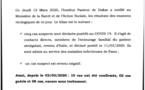 Coronavirus : Le Sénégal compte désormais 8 cas confirmés et deux guéris.