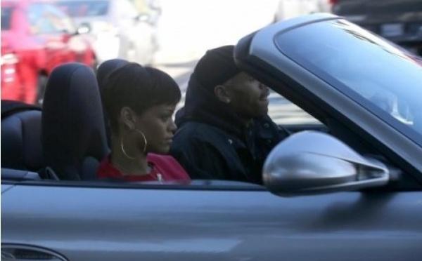Rihanna avec Chris Brown à Los Angeles, la photo qui choque aux USA !