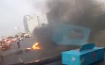 La VDN bloquée par des pneus en feu, le siège de la Convergence Macky horizon 2019 saccagé